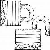 Padlock sketch