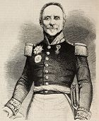 Portrait of General Camille Alphonse Trezel, Minister of war. Original, from a drawing of Marc, afte