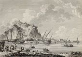 View of the port of Palermo, Italy. By Chatelet and Paris, published on Voyage Pittoresque de Naples