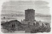image of martello  - Attack to Martello tower near Cork - JPG