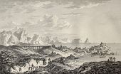 Old view of Termini Imerese, and Surroundings, Sicily. By Chatelet, Coiny and De Ghendt, published o