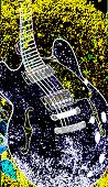 Abstract  Jazz Guitar Set On A Jazz Grunge Background poster