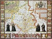 Cambridgeshire old map, from The Theatre of the Empire of Great Britain. Created by John Speed, Publ
