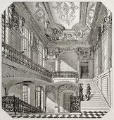 Old illustration of Ecole centrale des arts et manufactures, Paris. Created by Lancelot, published o