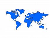 World Map (blue)