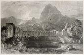 alte Illustration Zaghouan Wasser Tempel, Tunesien. erstellt von Greenvile, Tempel, Bart und Redaway,