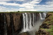 Постер, плакат: View Of Victoria Falls From Zimbabwe africa