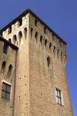Corner tower of San Giorgio castle, Mantua, Italy