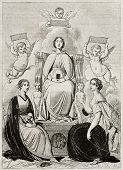 Three women (Beatrice, Laura and Orsolina) that three Italian poets (Dante, Petrarca, Ariosto) loved