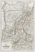 stock photo of dauphin  - Dauphine old map - JPG
