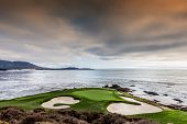 Coastline Golf Course In California poster