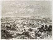 Matanzas old view, Cuba. Created by Lancelot after Mialhe, published on Le Tour du Monde, Paris, 186
