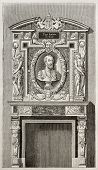 Villeroy castle fireplace, kept in Louvre museum, Paris. By unidentified author, published on Magasi