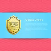 Quality Choice Golden Label Pink Poster. Guarantee Of Excellence And Premium Quality Of Production.  poster