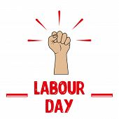 1 May Labour Day. Vector Labour Day Poster Or Banner poster