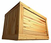picture of wooden crate  - few wooden boxes on the plain background - JPG