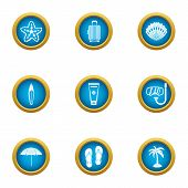 Adventure Journey Icons Set. Flat Set Of 9 Adventure Journey Icons For Web Isolated On White Backgro poster