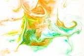 Abstract Colors, Backgrounds And Textures. Food Coloring In Milk. Food Coloring In Milk Creating Bri poster