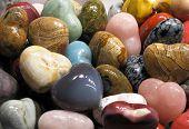 Set of colorful semiprecious stones