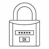Password Lock Icon. Outline Illustration Of Password Lock Icon For Web Design Isolated On White Back poster