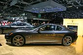 GENEVA - MARCH 7: Maserati on display at the 79th International Motor Show Palexpo-Geneva on March 7