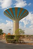 Famous water tower in the Riyadh city, Saudi Arabia