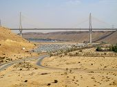 stock photo of saudi arabia  - Road trough the desert - JPG