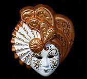 Venetian mask isolated on black