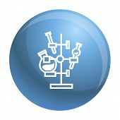 Chemical Flask Stand Icon. Simple Illustration Of Chemical Flask Stand Vector Icon For Web Design Is poster