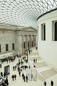 LONDON - FEBRUARY 13: People visit the British Museum - museum of human history and culture and one
