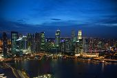 Night view of Singapore's famous downtown