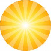 Sun Abstract Background. Sunbeam Pattern In Circle. Sunrays Shining Like Explosion. Vector Illustrat poster