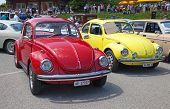 SCHWAEGALP - JUNE 27: Classical VW Beetle car on the 7th