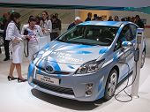 GENEVA - MARCH 8: The new Toyota Prius Plug-In Hybrid car on display at the 81st International Motor