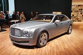 GENEVA - MARCH 8: The Bentley Mulsanne on display at the 81st International Motor Show Palexpo-Geneva on March 8, 2011  in Geneva, Switzerland.