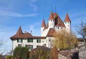 Thun castle near Interlaken, Bern, Switzerland