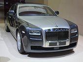 GENEVA - MARCH 8: The Rolls Royce Phantom Spirit preview on the 81st International Motor Show Palexpo-Geneva on March 8; 2011  in Geneva, Switzerland.