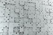 Abstract Background Jigsaw Puzzle Wall
