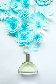 Concept Flower Arrangement. Flowers, Fragrance, Perfume. Delicate poster
