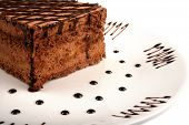 close up shot of a sliced cake in the plate
