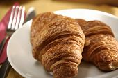 close up image of croissant in the plate