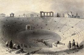 stock photo of luigi  - Antique illustration of Verona arena - JPG