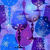 Navidad azul violeta de patrones sin fisuras