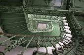 Grunge, escadaria verde
