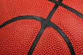 Extreme Closeup Of A Basketball