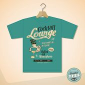 Vintage Graphic T-shirt design - Cocktail Lounge - Vector EPS10. Grunge effects can be easily removed for a cleaner look.