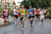 VALENCIA, SPAIN - SEPTEMBER 1: Runners compete in the 8 Kilometer XXVI Volta a Peu Quart de Poblet r