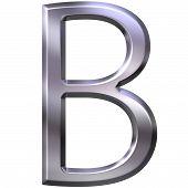 3D Silver Letter B