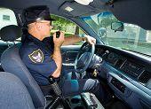 Policeman On Radio