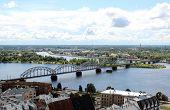 The Panoramic View Of Riga, Latvia